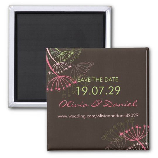 fatfatin Sweet Dandelions Save The Date Magnet