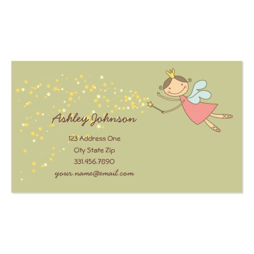 fatfatin Sweet Fairy and Stars Profile Card Business Cards
