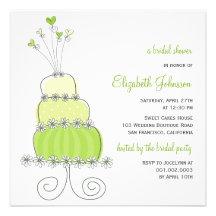 fatfatin Sweet Wedding Cake Bridal Shower Invite Invitations