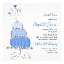 fatfatin Sweet Wedding Cake Bridal Shower Invite Custom Announcement