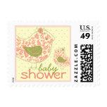 fatfatin Swirly Mom & Baby Bird Baby Shower Stamps Postage Stamps