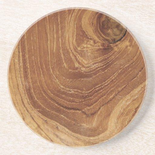 fatfatin Teak Wood Texture Photo Custom Coaster