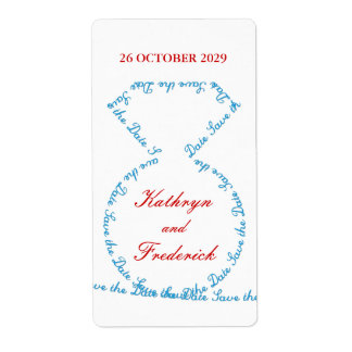 fatfatin Tiff Diamond Ring Save The Date Labels Shipping Label