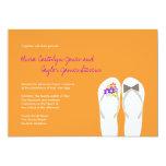 fatfatin Tropical Beach Flip Flops Wedding Invite