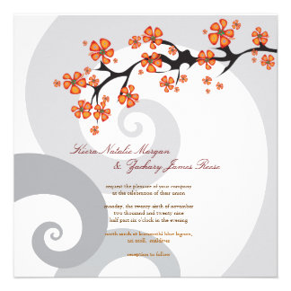fatfatin Tropical Flower Fusion Swirls Wedding Custom Invites