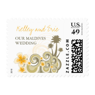 fatfatin Tropical Waves Hibiscus Wedding Stamps