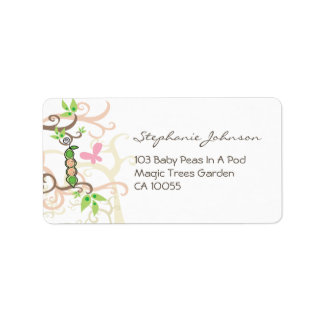 fatfatin Twins Baby Girls Peas In A Pod Labels
