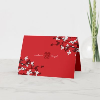Chinese Wedding Songs on Happiness Spring Flower Chinese Wedding Greeting Cards By Fat Fa Tin