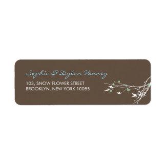fatfatin Winter Branch Snow Flower Wedding Label Return Address Label