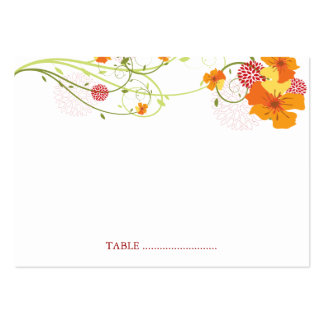 fatfatin Yellow Hibiscus Swirls Guest Place Card