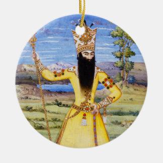 Fath Ali Fatali Shah Qajar King Ceramic Ornament