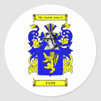 Fath Coat of arms Classic Round Sticker