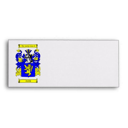 Fath Coat of arms Envelope