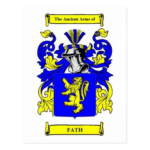 Fath Coat of arms Postcard