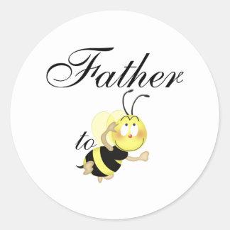 Father 2 be classic round sticker