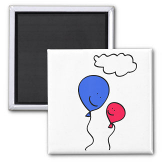 Father and Child 2 Inch Square Magnet