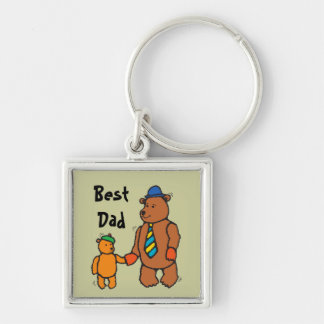 Father and Child Bear Keychain