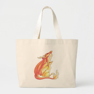 Father and Child Tote Canvas Bags