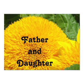 Father and Daughter Dance Invitations Cards Flower