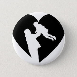 Father And Daughter Heart Pinback Button