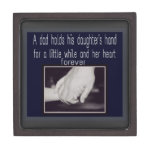 father and daughter keepsake box