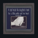"father and daughter keepsake box<br><div class=""desc"">Father and daughter</div>"