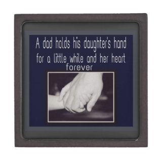 father and daughter premium trinket box