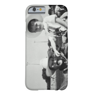 Father and son (2-4) at rodeo (B&W) Barely There iPhone 6 Case