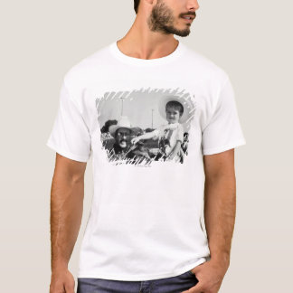 Father and son (2-4) at rodeo (B&W) T-Shirt