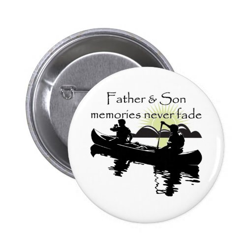 Father and Son 2 Inch Round Button