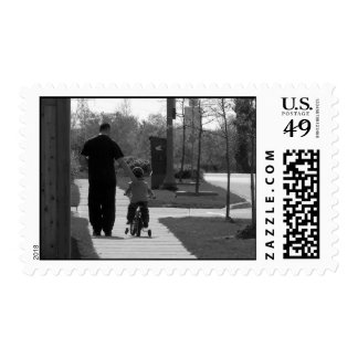 Father and Son (B&W) Stamps