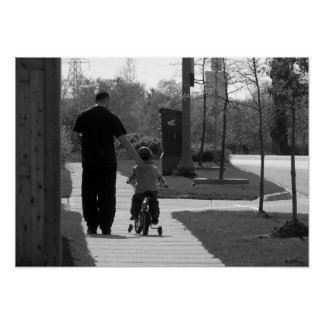 Father and Son (B&W) Poster