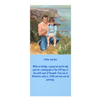 'Father and Son' Bookmark Customized Rack Card