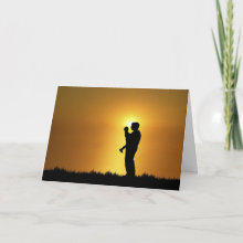 Father and Son Card - Father and Son Greeting Card with customizable 'Happy Father's Day' text on the inside. Also makes a great birthday card from son to dad!