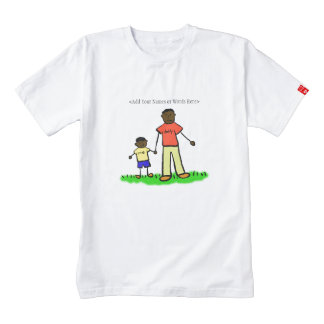 Father and Son Custom Family Characters Art Shirt
