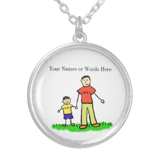 Father and Son Customized Jewelry Art Necklace
