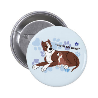 Father and Son Dogs Buttons