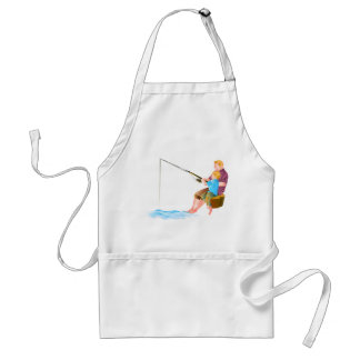 Father and son fishing aprons
