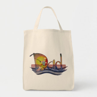 Father and son fishing artistic text design tote bag