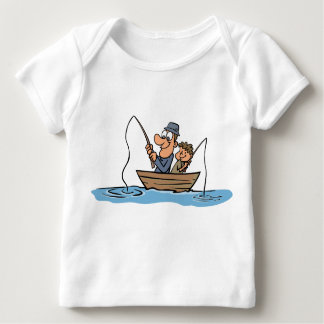 Father and Son Fishing Cartoon Tees