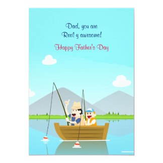 Father and Son Fishing Father's Day Card