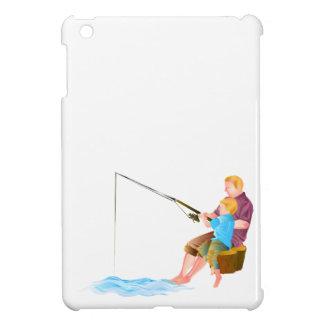 Father and son fishing iPad mini case