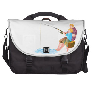 Father and son fishing commuter bag