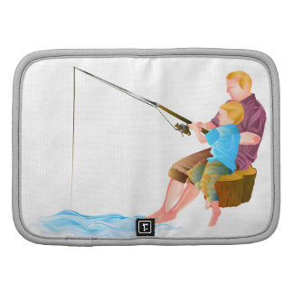 Father and son fishing organizers