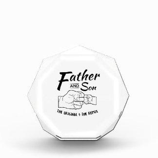 Father and Son Fist bump Acrylic Award