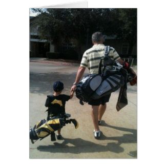 Father and Son Golf Team Greeting Card