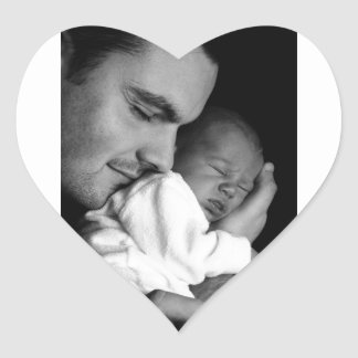 Father and Son Heart Sticker