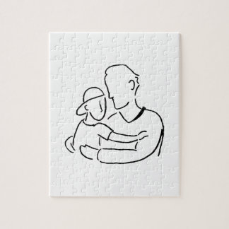 Father and Son Hug Jigsaw Puzzle