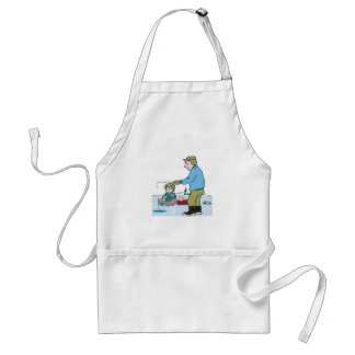 Father And Son Ice Fishing Aprons
