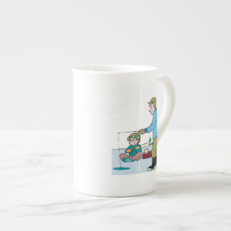 Father And Son Ice Fishing Tea Cup